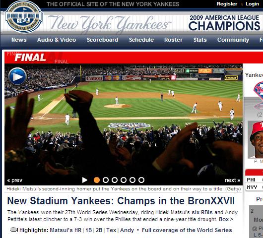 ヤンキース、ワールドチャンピオンに! 松井選手がMVP!!!_b0007805_1452798.jpg