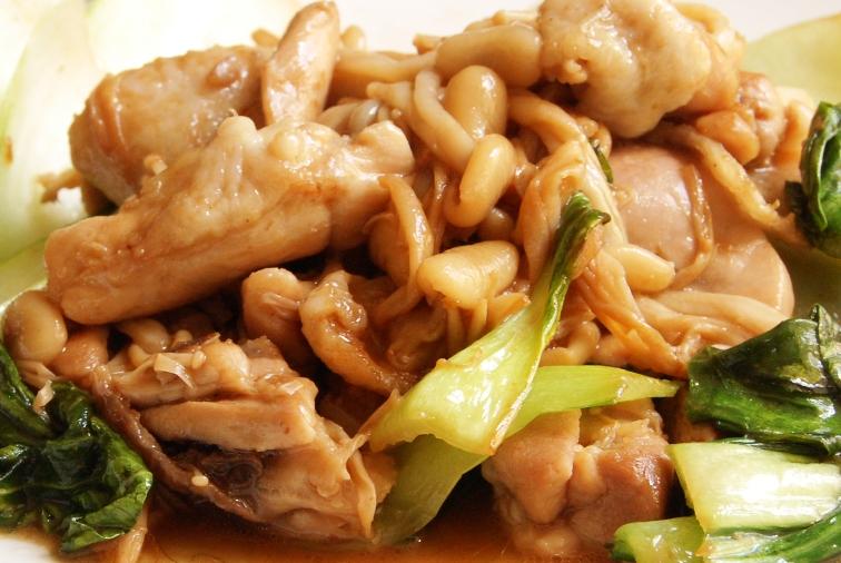 鶏とえのきとチンゲン菜のゆず胡椒炒め&_d0104926_313220.jpg