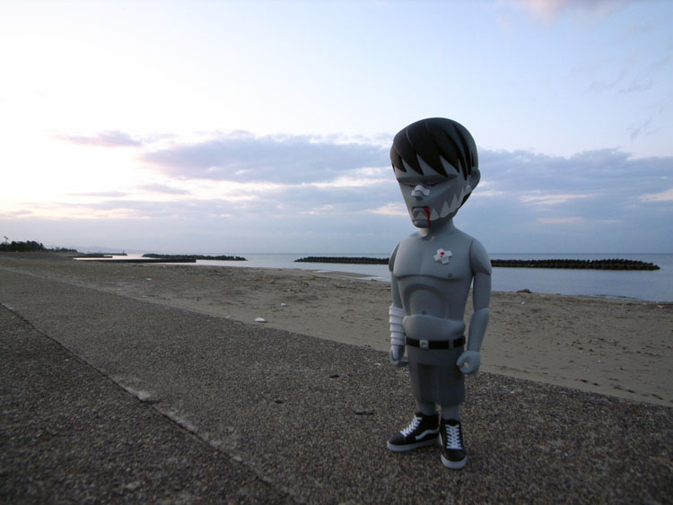 jaws painを連れて日本海までドライブして来た。_a0077842_22141611.jpg