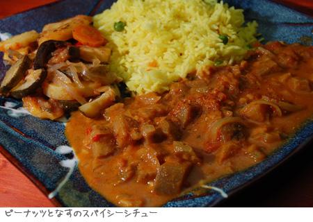 ピーナッツとなすのスパイシーシチュー_Spicy Peanut and Eggplant Soup_a0080964_17422415.jpg