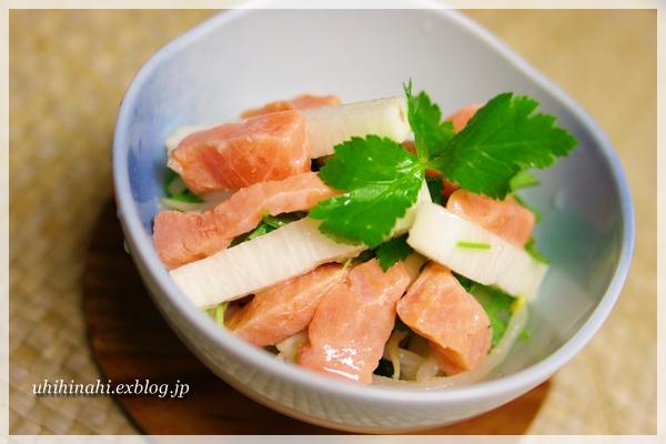サーモンと長芋の寿司酢漬け_f0179404_20341875.jpg