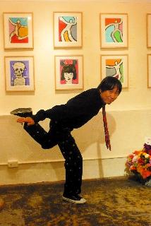 真鍋太郎さん×藤原ようこさん展/最終日再訪〜@夜の森岡書店_f0164187_1641792.jpg