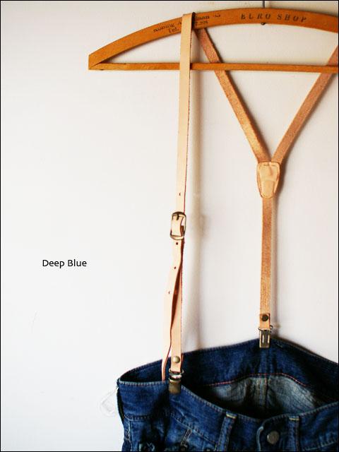 Deep Blue [ディープブルー] ワッシャーレザーサスペンダー [No.43514] _f0051306_19105714.jpg