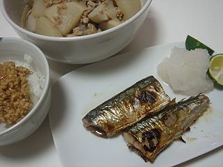 秋刀魚の塩焼き_c0025217_1172841.jpg