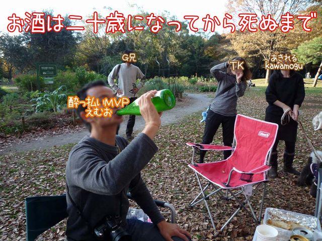 秋の野外宴会・重量挙げ選手権_c0062832_16534432.jpg
