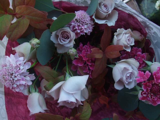 オークリーフ(バラ・シオンの花束)_f0049672_17183181.jpg