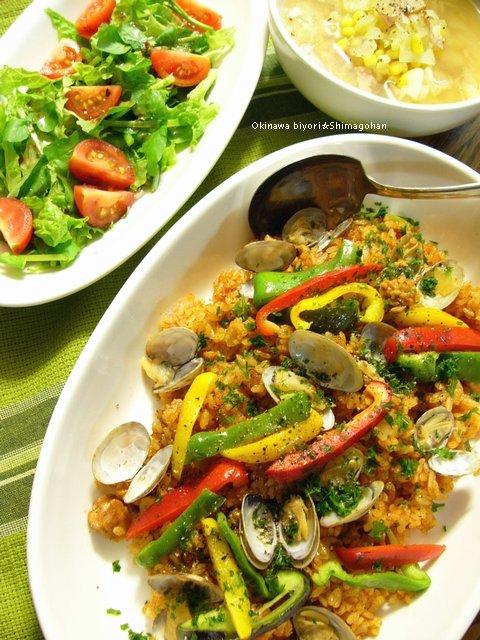 完熟トマト鍋を使って、簡単洋風炊き込みご飯♪_c0139375_13584334.jpg