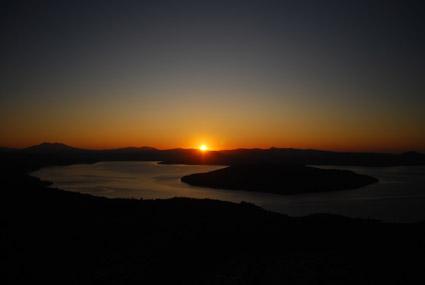 屈斜路湖の月と太陽_c0229485_043120.jpg