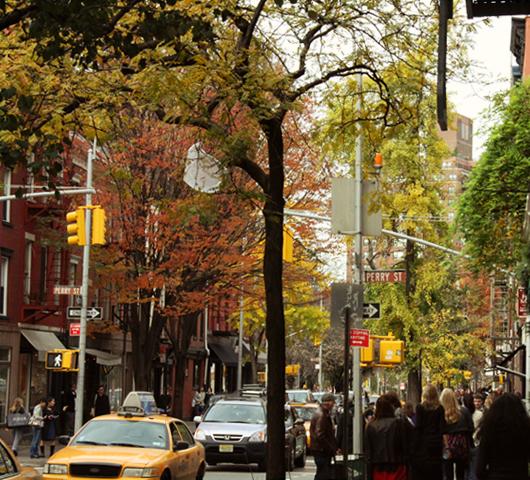 ニューヨークの紅葉、住宅街も美しいです_b0007805_22475713.jpg
