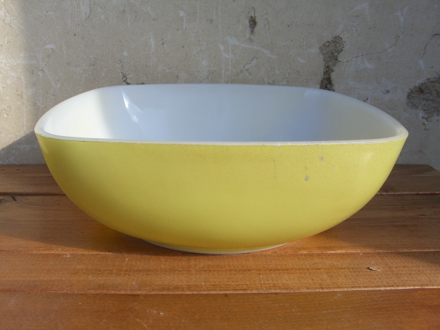 Antique PYREX グラタン皿 Color Lemon Yellow_c0210815_1343959.jpg