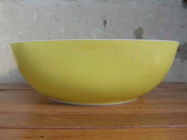 Antique PYREX グラタン皿 Color Lemon Yellow_c0210815_13455584.jpg