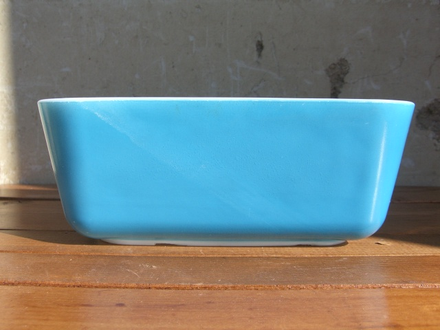 Antique PYREX グラタン皿 Color Blue_c0210815_14364887.jpg