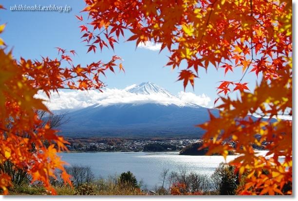 富士山・・・紅葉の額縁_f0179404_2163152.jpg