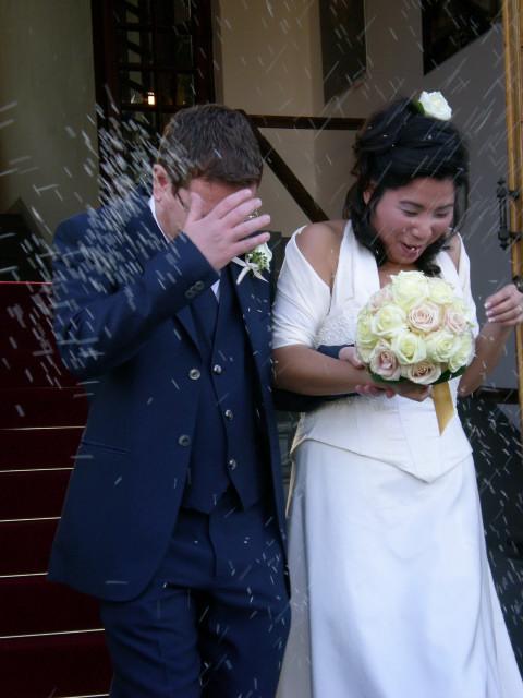 冬の結婚式-----ライスシャワーの幸せ_c0179785_186468.jpg
