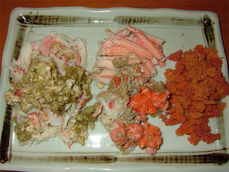 ズワイと香箱の茶碗豆腐碗_c0110051_912484.jpg