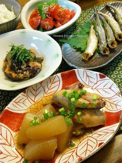 「野菜」 焼き茄子の辛子明太子和え♪_c0139375_1459251.jpg