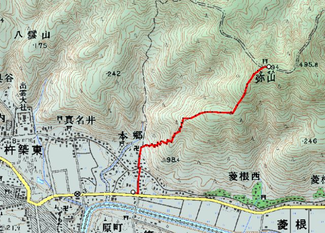 早朝ハイキング「弥山・大社496m」 参加4名_d0007657_2034316.jpg