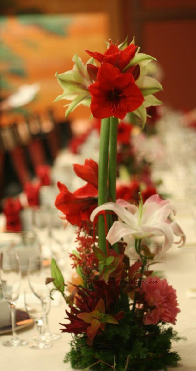 和の花の装花 アマリリス 目黒雅叙園様の装花_a0042928_22542843.jpg