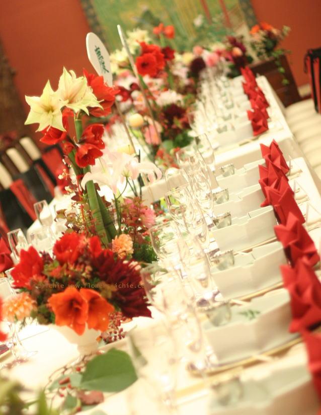 和の花の装花 アマリリス 目黒雅叙園様の装花_a0042928_22552583.jpg