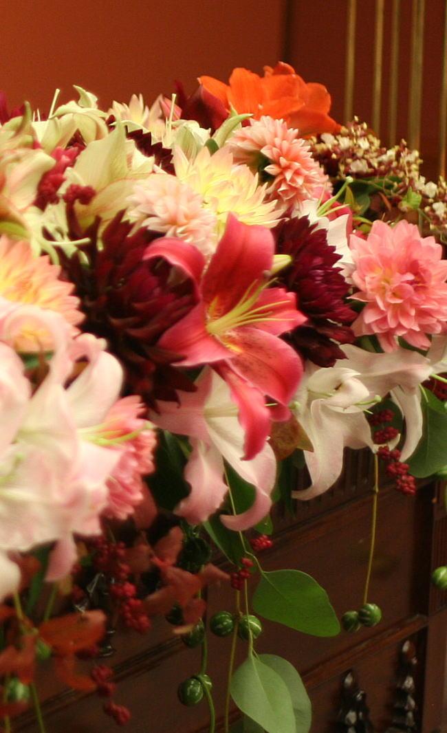 和の花の装花 アマリリス 目黒雅叙園様の装花_a0042928_225712.jpg