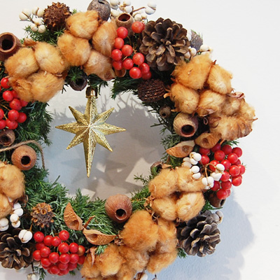 冬雑貨展 追加納品 ギモーブとクリスマスリース_a0043747_1219599.jpg