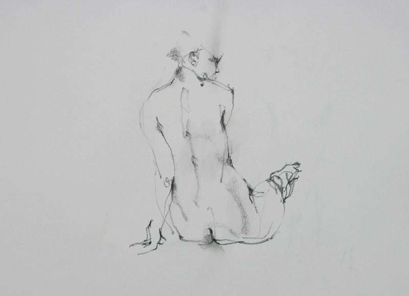 裸婦クロッキー_f0159856_740132.jpg
