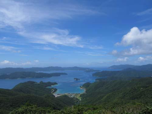 高知山展望台から大島海峡・薩川湾を望む_e0028387_2324184.jpg