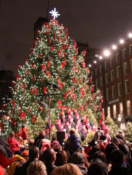 サウス・ストリート・シーポートの歌うクリスマス・ツリー点灯式 _b0007805_100208.jpg