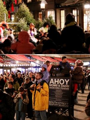 サウス・ストリート・シーポートの歌うクリスマス・ツリー点灯式 _b0007805_958227.jpg