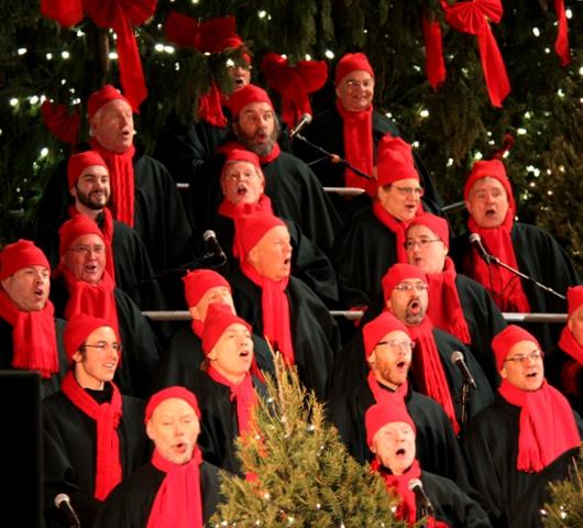 サウス・ストリート・シーポートの歌うクリスマス・ツリー点灯式 _b0007805_9594376.jpg