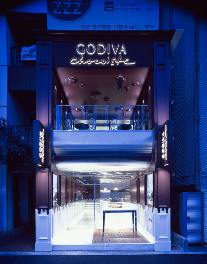 Melting Chocolate walls and ceilings at the Godiva store in Japan_a0118453_1911481.jpg