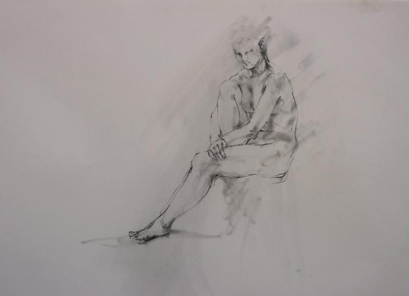 裸婦クロッキー_f0159856_8261446.jpg
