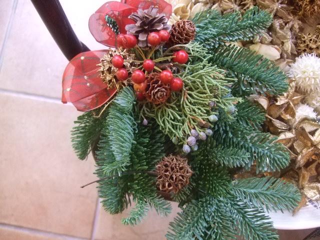 オークリーフ(今年のクリスマスリース)_f0049672_1440137.jpg