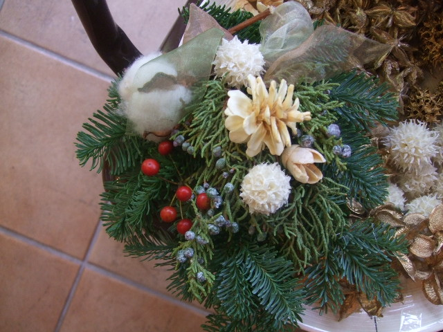 オークリーフ(今年のクリスマスリース)_f0049672_14402141.jpg