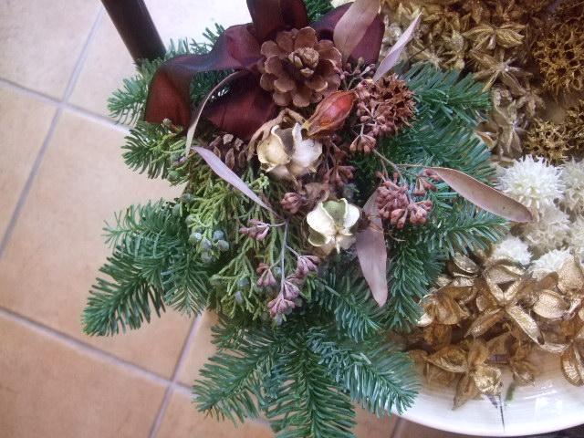 オークリーフ(今年のクリスマスリース)_f0049672_14403082.jpg