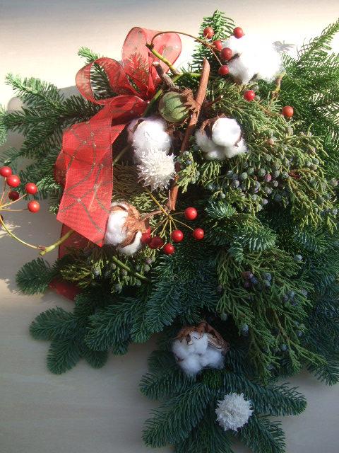 オークリーフ(今年のクリスマスリース)_f0049672_14404486.jpg