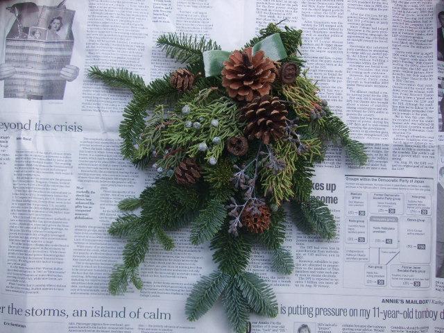 オークリーフ(今年のクリスマスリース)_f0049672_14412215.jpg