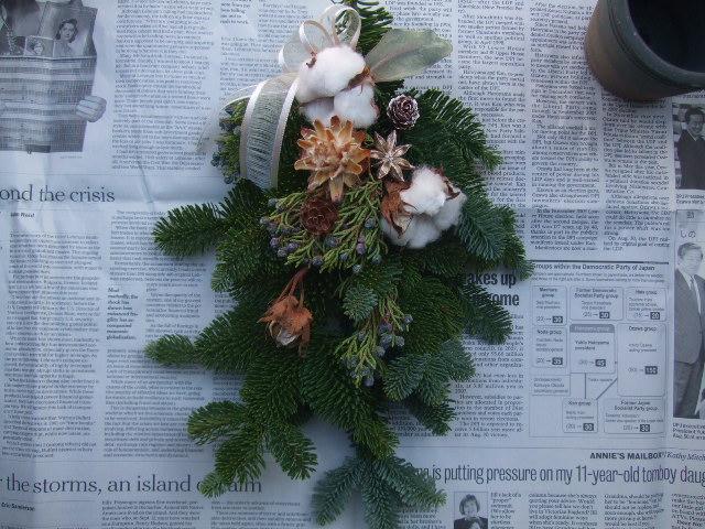 オークリーフ(今年のクリスマスリース)_f0049672_14414516.jpg