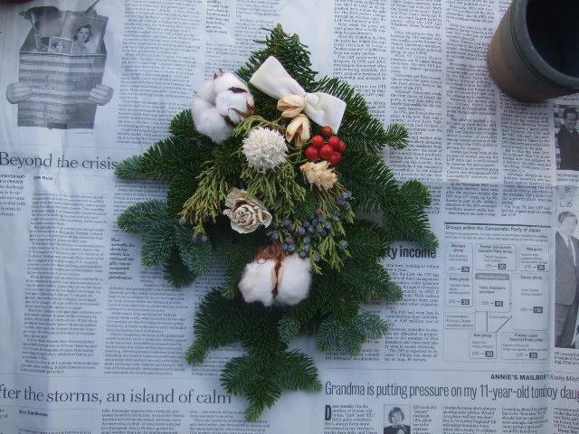 オークリーフ(今年のクリスマスリース)_f0049672_14415988.jpg