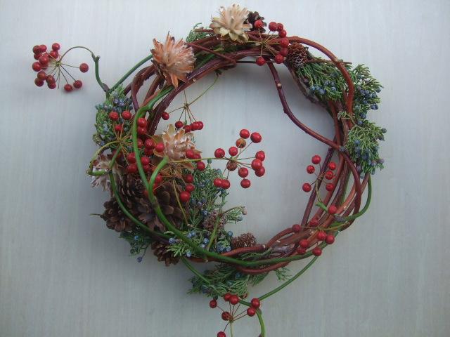 オークリーフ(今年のクリスマスリース)_f0049672_14425112.jpg