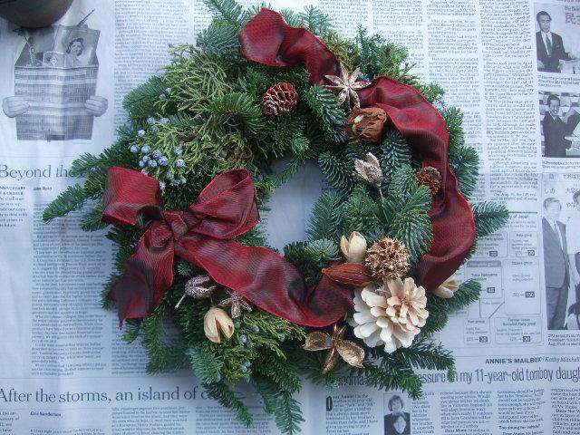 オークリーフ(今年のクリスマスリース)_f0049672_14431563.jpg