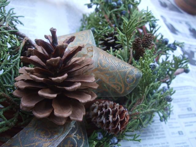 オークリーフ(今年のクリスマスリース)_f0049672_1444375.jpg