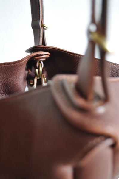 STYLE CRAFT deerskin shoulder bag