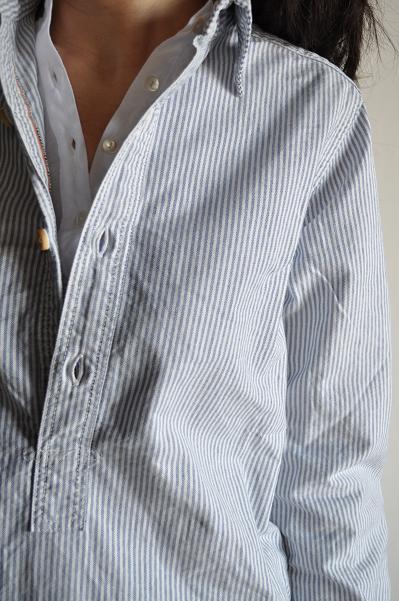 OMNIGOD オックスストライプ ロングシャツ