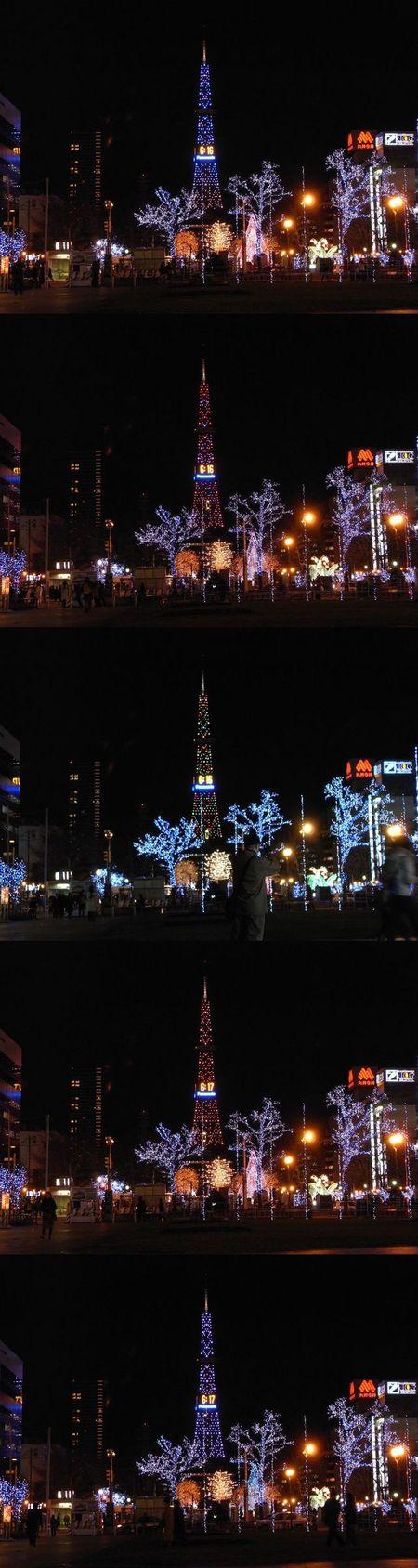 大通公園のイルミネーション_c0025115_20445361.jpg