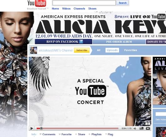 YouTubeによる、NYから全世界向けAlicia Keysさんライブ無料ネット生中継まであと1時間ほどです_b0007805_839548.jpg
