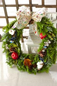 手作りのクリスマスリース_a0115906_1702922.jpg