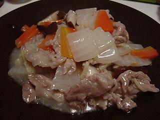 八宝菜とまぐろアボガド丼_c0025217_11403697.jpg