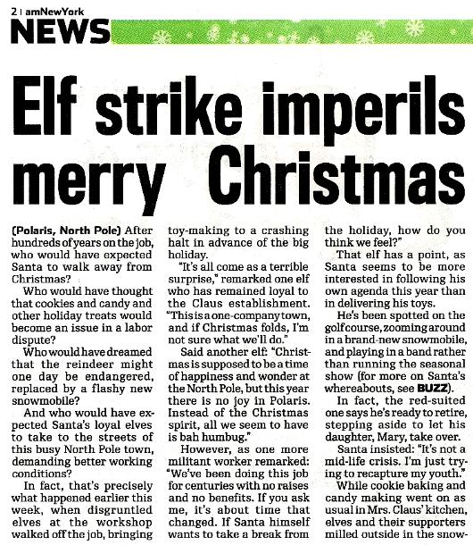 NY地元紙の報じた、思わず微笑んでしまうクリスマス危機のニュース_b0007805_10294128.jpg