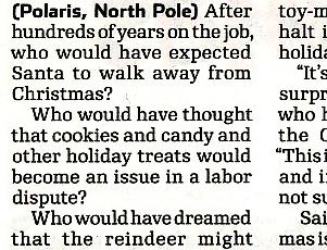 NY地元紙の報じた、思わず微笑んでしまうクリスマス危機のニュース_b0007805_11231066.jpg